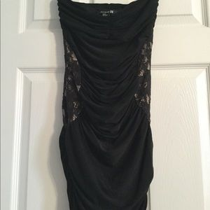 Forever 21 black tube party dress size M